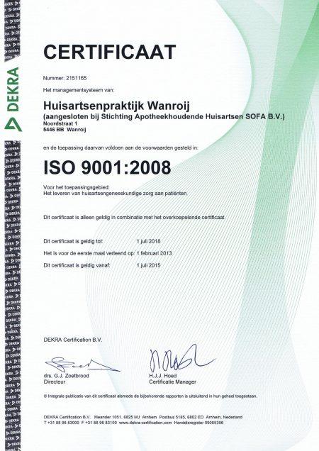 Certificaat 2015